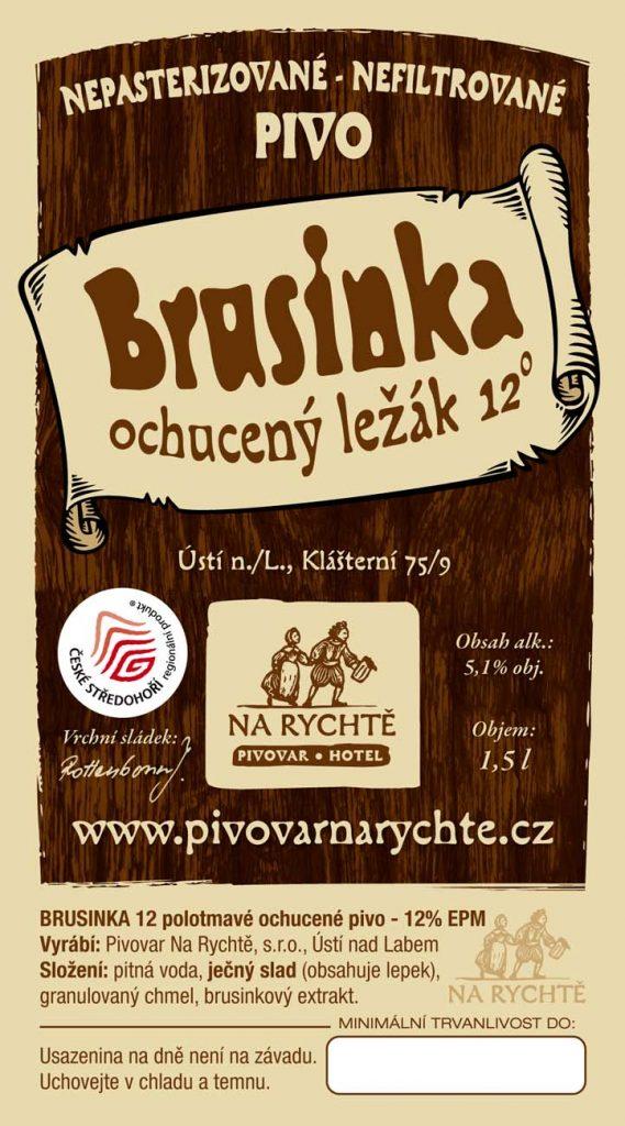 Ústecká Brusinka Pivovar Na Rychtě