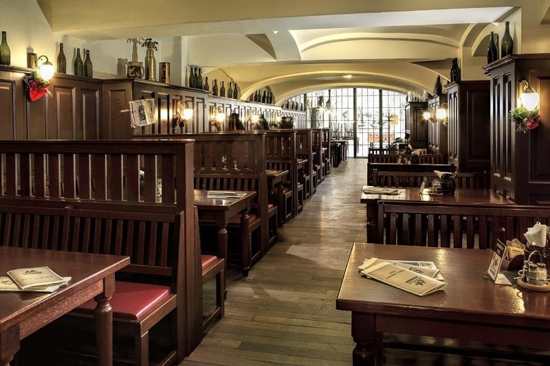 Interiér restaurace Na Rychtě v Ústí nad Labem